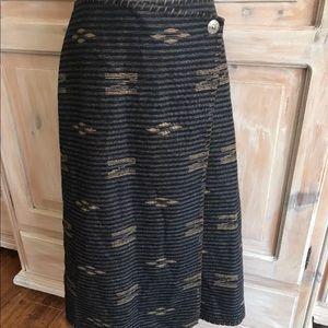 Ralph Lauren Southwestern Wrap Skirt Woman's 16